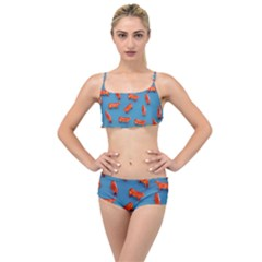 Illustrations Cow Agriculture Livestock Layered Top Bikini Set