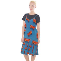 Illustrations Cow Agriculture Livestock Camis Fishtail Dress