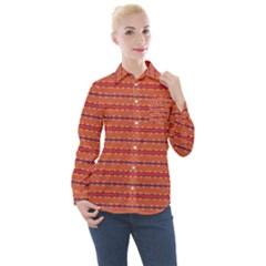 Illustrations Fabric Triangle Women s Long Sleeve Pocket Shirt