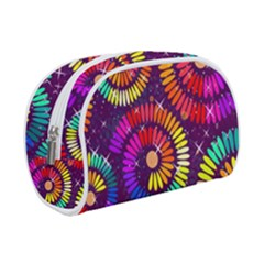 Abstract Background Spiral Colorful Makeup Case (small)