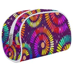 Abstract Background Spiral Colorful Makeup Case (medium)