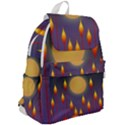 Night Moon Flora Background Top Flap Backpack View2