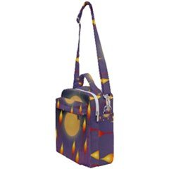 Night Moon Flora Background Crossbody Day Bag