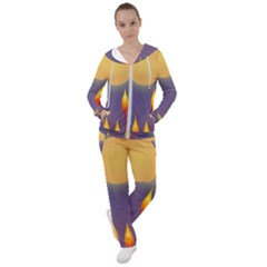 Night Moon Flora Background Women s Tracksuit