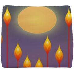 Night Moon Flora Background Seat Cushion by HermanTelo