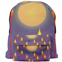 Night Moon Flora Background Giant Full Print Backpack