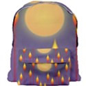 Night Moon Flora Background Giant Full Print Backpack View1