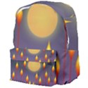 Night Moon Flora Background Giant Full Print Backpack View4