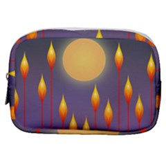 Night Moon Flora Background Make Up Pouch (Small)