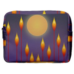 Night Moon Flora Background Make Up Pouch (Large)