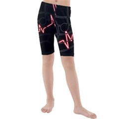 Music Wallpaper Heartbeat Melody Kids  Mid Length Swim Shorts