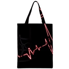 Music Wallpaper Heartbeat Melody Zipper Classic Tote Bag by HermanTelo