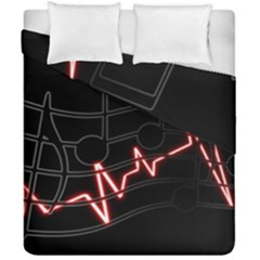 Music Wallpaper Heartbeat Melody Duvet Cover Double Side (california King Size)