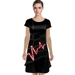 Music Wallpaper Heartbeat Melody Cap Sleeve Nightdress