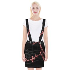 Music Wallpaper Heartbeat Melody Braces Suspender Skirt by HermanTelo