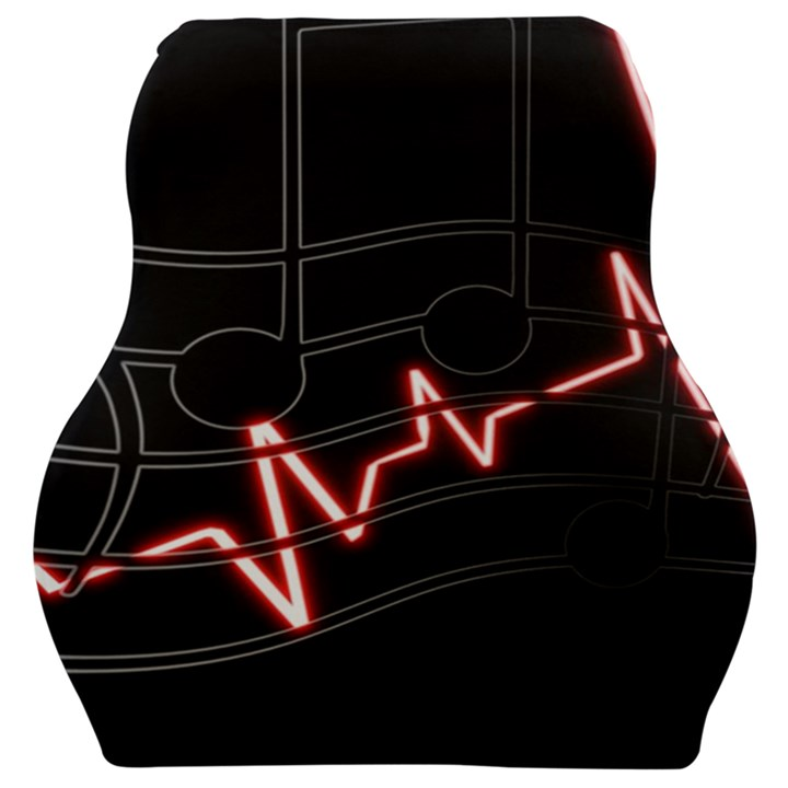 Music Wallpaper Heartbeat Melody Car Seat Velour Cushion