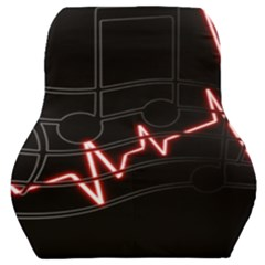 Music Wallpaper Heartbeat Melody Car Seat Back Cushion
