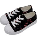 Music Wallpaper Heartbeat Melody Kids  Low Top Canvas Sneakers View2