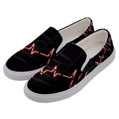 Music Wallpaper Heartbeat Melody Men s Canvas Slip Ons by HermanTelo