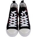 Music Wallpaper Heartbeat Melody Women s Mid-Top Canvas Sneakers View1
