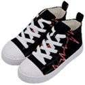 Music Wallpaper Heartbeat Melody Kids  Mid-Top Canvas Sneakers View2