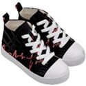 Music Wallpaper Heartbeat Melody Kids  Mid-Top Canvas Sneakers View3