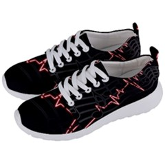Music Wallpaper Heartbeat Melody Men s Lightweight Sports Shoes by HermanTelo
