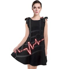 Music Wallpaper Heartbeat Melody Tie Up Tunic Dress by HermanTelo