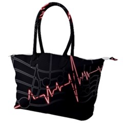 Music Wallpaper Heartbeat Melody Canvas Shoulder Bag