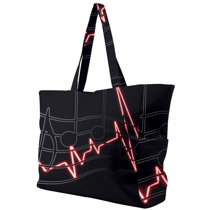 Music Wallpaper Heartbeat Melody Simple Shoulder Bag