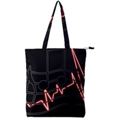 Music Wallpaper Heartbeat Melody Double Zip Up Tote Bag by HermanTelo