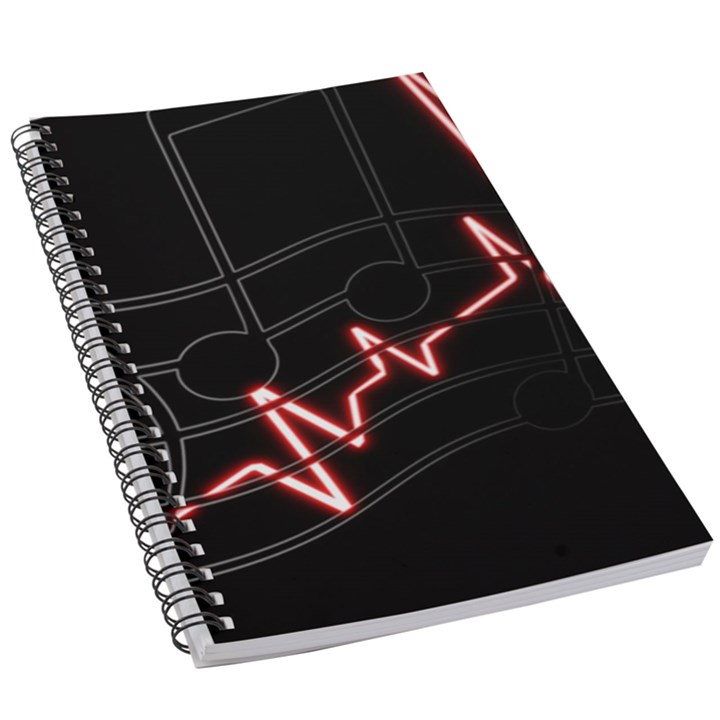 Music Wallpaper Heartbeat Melody 5.5  x 8.5  Notebook