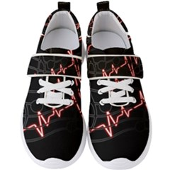 Music Wallpaper Heartbeat Melody Men s Velcro Strap Shoes by HermanTelo