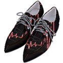 Music Wallpaper Heartbeat Melody Women s Pointed Oxford Shoes View2
