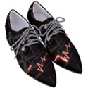 Music Wallpaper Heartbeat Melody Women s Pointed Oxford Shoes View3