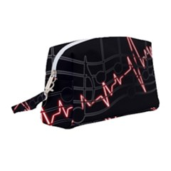 Music Wallpaper Heartbeat Melody Wristlet Pouch Bag (medium) by HermanTelo
