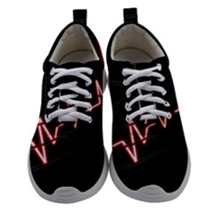 Music Wallpaper Heartbeat Melody Women Athletic Shoes