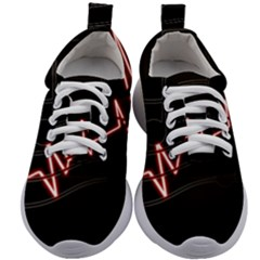 Music Wallpaper Heartbeat Melody Kids Athletic Shoes by HermanTelo