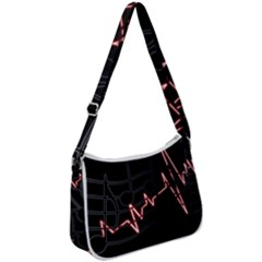 Music Wallpaper Heartbeat Melody Zip Up Shoulder Bag