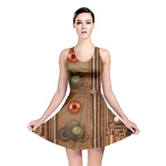 Steampunk Design Reversible Skater Dress