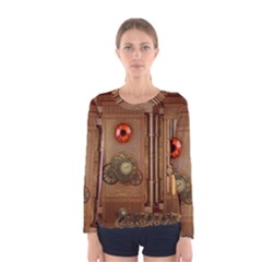 Steampunk Design Women s Long Sleeve Tee