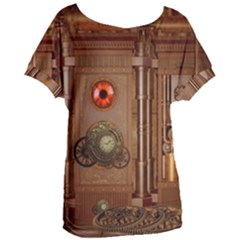 Steampunk Design Women s Oversized Tee