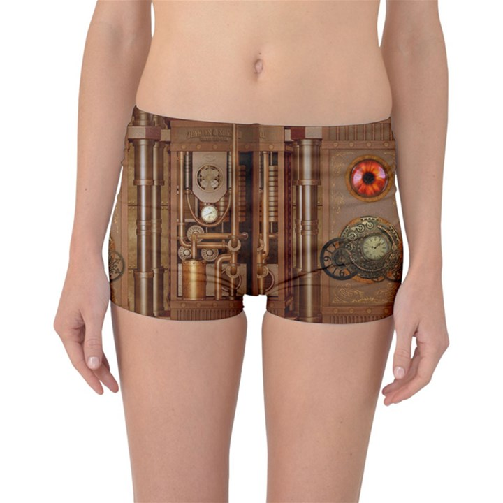 Steampunk Design Reversible Boyleg Bikini Bottoms
