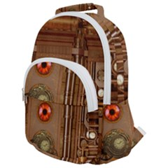 Steampunk Design Rounded Multi Pocket Backpack