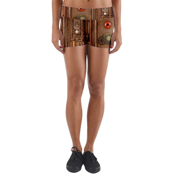 Steampunk Design Yoga Shorts