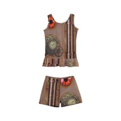 Steampunk Design Kids  Boyleg Swimsuit