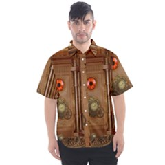 Steampunk Design Men s Short Sleeve Shirt