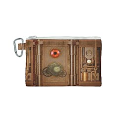 Steampunk Design Canvas Cosmetic Bag (small)