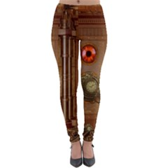 Steampunk Design Lightweight Velour Leggings by FantasyWorld7