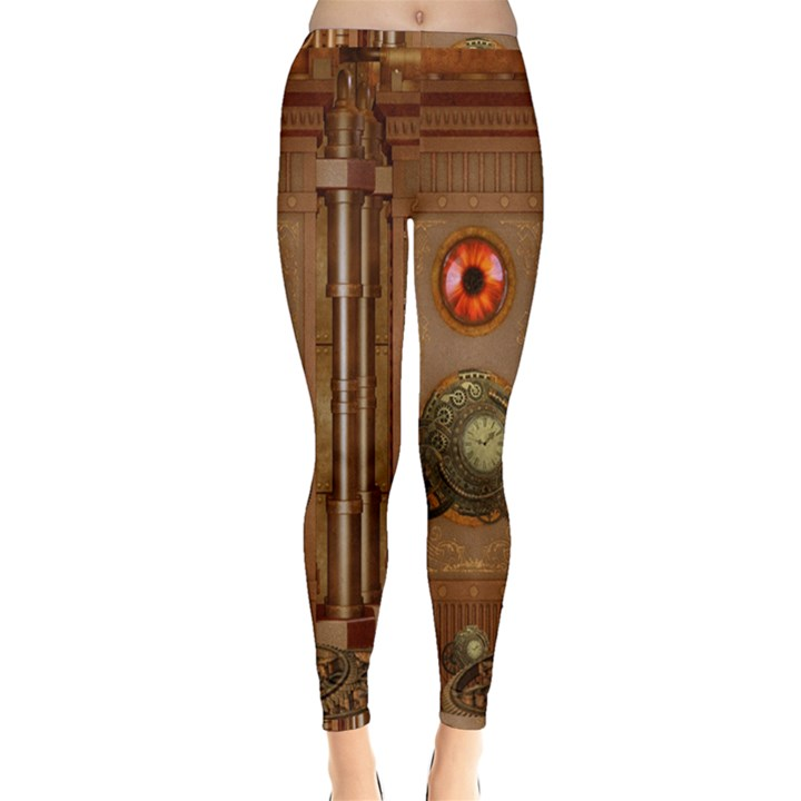 Steampunk Design Inside Out Leggings